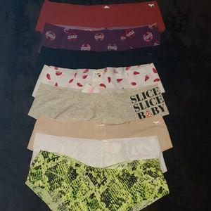 Victoria's Secret PINK panty lot of 8